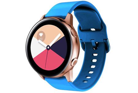 Siliconen smartwatchbandjes   Gekleurde horlogebandjes in 2 maten Blauw
