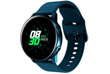 Siliconen smartwatchbandjes   Gekleurde horlogebandjes in 2 maten Groenblauw