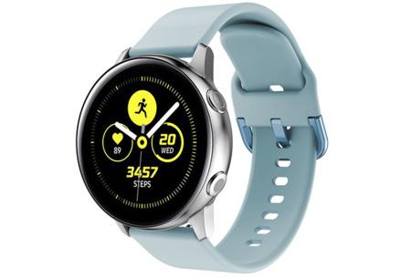 Siliconen smartwatchbandjes   Gekleurde horlogebandjes in 2 maten Lichtblauw