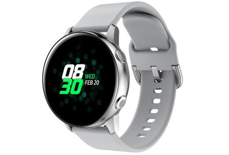 Siliconen smartwatchbandjes   Gekleurde horlogebandjes in 2 maten Lichtgrijs