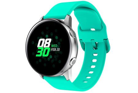 Siliconen smartwatchbandjes   Gekleurde horlogebandjes in 2 maten Mintgroen