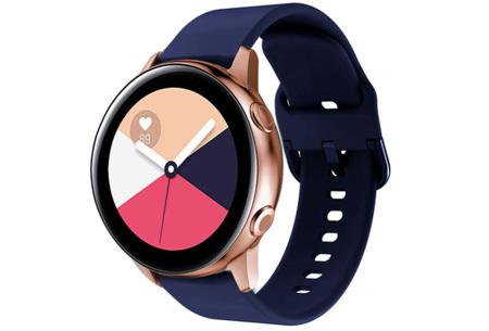 Siliconen smartwatchbandjes   Gekleurde horlogebandjes in 2 maten Navy blauw