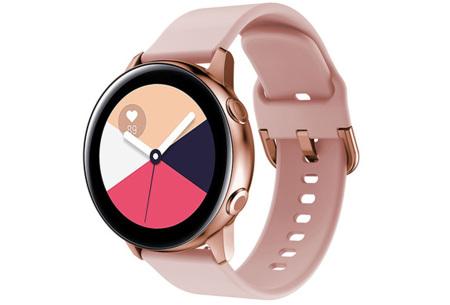 Siliconen smartwatchbandjes   Gekleurde horlogebandjes in 2 maten Roze