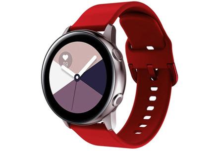 Siliconen smartwatchbandjes   Gekleurde horlogebandjes in 2 maten Rood