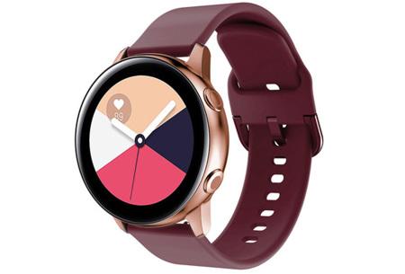Siliconen smartwatchbandjes   Gekleurde horlogebandjes in 2 maten Wijnrood