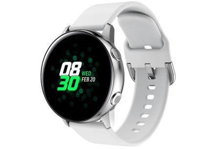 Siliconen smartwatchbandjes   Gekleurde horlogebandjes in 2 maten Wit