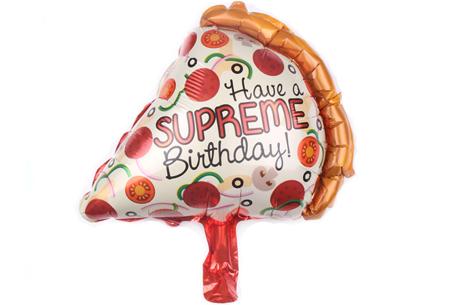 Verjaardagsballonnen   Folieballonnen in de vorm van snacks