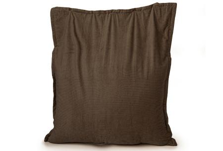 Ribstoffen zitzak van Your Basics | Corduroy loungekussen in 18 kleuren Dark brown