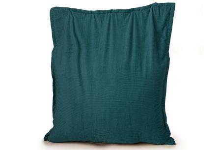 Ribstoffen zitzak van Your Basics | Corduroy loungekussen in 18 kleuren Emerald green