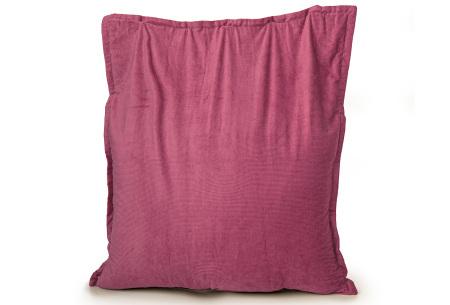 Ribstoffen zitzak van Your Basics | Corduroy loungekussen in 18 kleuren Fuchsia