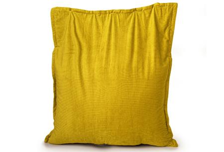 Ribstoffen zitzak van Your Basics | Corduroy loungekussen in 18 kleuren Geel