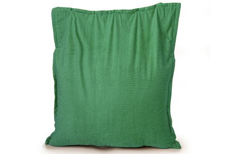 Ribstoffen zitzak van Your Basics | Corduroy loungekussen in 18 kleuren Green