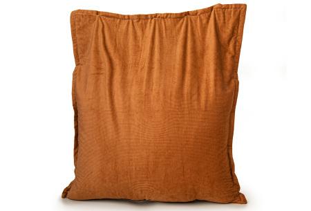 Ribstoffen zitzak van Your Basics | Corduroy loungekussen in 18 kleuren Orange