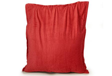 Ribstoffen zitzak van Your Basics | Corduroy loungekussen in 18 kleuren Red