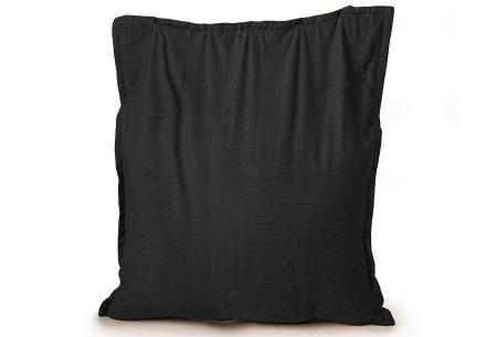 Ribstoffen zitzak van Your Basics | Corduroy loungekussen in 18 kleuren Zwart