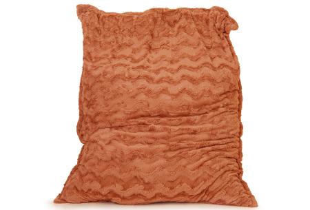 Faux fur zitzak van Your Basics | Superzacht loungekussen van nepbont - in 11 kleuren Oranje