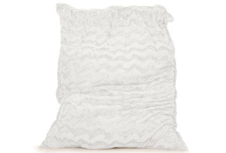 Faux fur zitzak van Your Basics | Superzacht loungekussen van nepbont - in 11 kleuren Wit