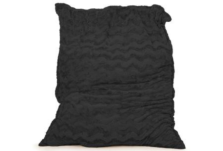 Faux fur zitzak van Your Basics | Superzacht loungekussen van nepbont - in 11 kleuren Zwart