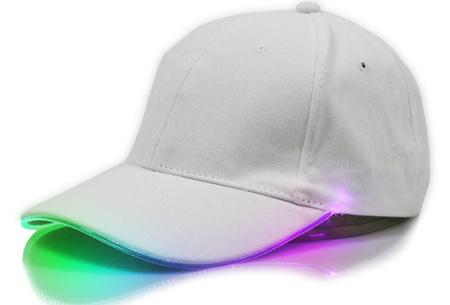 Led party pet | Cap met kleurrijke ledverlichting - perfect voor een feestje of run in het donker! Wit