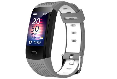 Activity tracker voor dames & heren   Veelzijdige smartwatch met minimalistisch design Grijs/wit