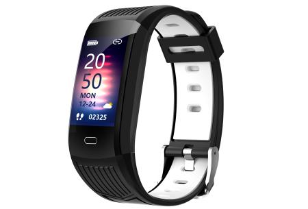 Activity tracker voor dames & heren   Veelzijdige smartwatch met minimalistisch design Zwart/wit