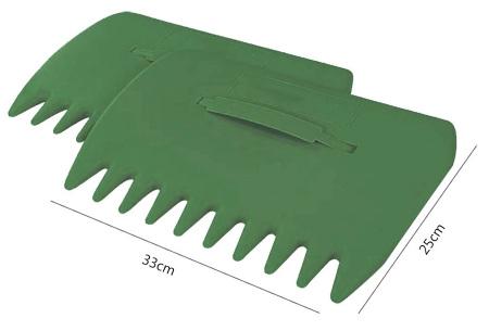 Tuinafvalzak en/of bladgrijpers   Tuingereedschap om gemakkelijk en snel bladeren op te ruimen! Bladgrijpers