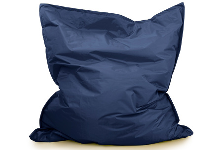 Your Basics zitzak voor binnen en buiten   Keuze uit 21 kleuren & 3 formaten voor volwassenen en kinderen Marine blauw - 130 x 150 cm