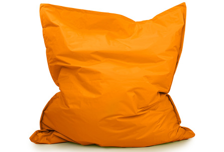 Your Basics zitzak voor binnen en buiten   Keuze uit 21 kleuren & 3 formaten voor volwassenen en kinderen Oranje - 130 x 150 cm