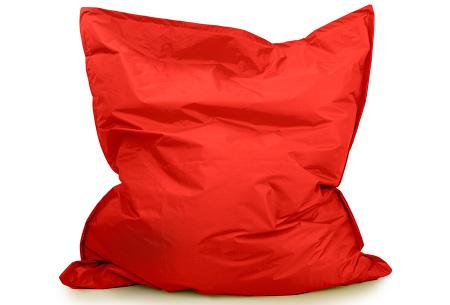 Your Basics zitzak voor binnen en buiten   Keuze uit 21 kleuren & 3 formaten voor volwassenen en kinderen Rood - 130 x 150 cm