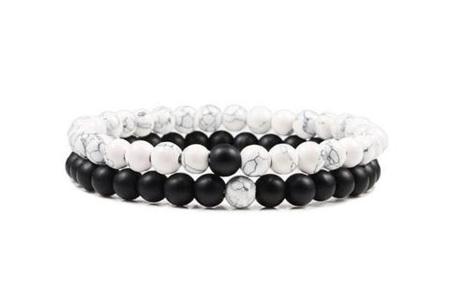 Edelsteen armbanden   Kralen armbandjes met positieve werking op je innerlijke rust G
