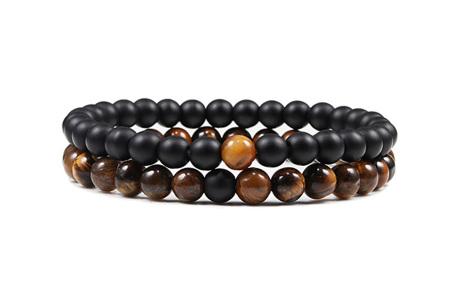 Edelsteen armbanden   Kralen armbandjes met positieve werking op je innerlijke rust I