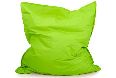 Your Basics zitzak voor binnen en buiten   Keuze uit 21 kleuren & 3 formaten voor volwassenen en kinderen Apple green - 130 x 150 cm
