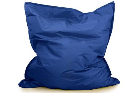 Your Basics zitzak voor binnen en buiten   Keuze uit 21 kleuren & 3 formaten voor volwassenen en kinderen Kobaltblauw - 130 x 150 cm