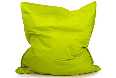 Your Basics zitzak voor binnen en buiten   Keuze uit 21 kleuren & 3 formaten voor volwassenen en kinderen Lime groen - 130 x 150 cm