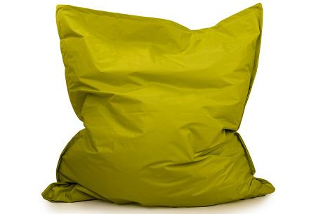 Your Basics zitzak voor binnen en buiten   Keuze uit 21 kleuren & 3 formaten voor volwassenen en kinderen Spring green - 130 x 150 cm