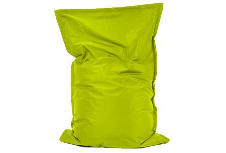Your Basics zitzak voor binnen en buiten   Keuze uit 21 kleuren & 3 formaten voor volwassenen en kinderen Lime groen - 100/115 x 150
