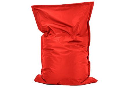 Your Basics zitzak voor binnen en buiten   Keuze uit 21 kleuren & 3 formaten voor volwassenen en kinderen Rood - 100/115 x 150