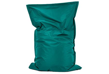 Your Basics zitzak voor binnen en buiten   Keuze uit 21 kleuren & 3 formaten voor volwassenen en kinderen Smaragdgroen - 100/115 x 150