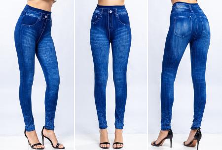 Denim look legging | Comfortabele jegging voor dames Blauw