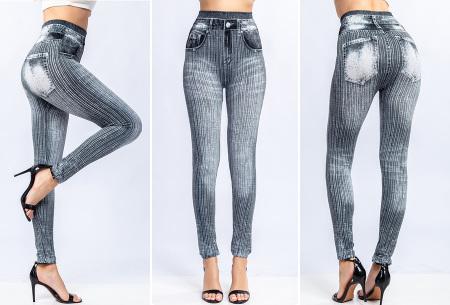 Denim look legging | Comfortabele jegging voor dames Grijs