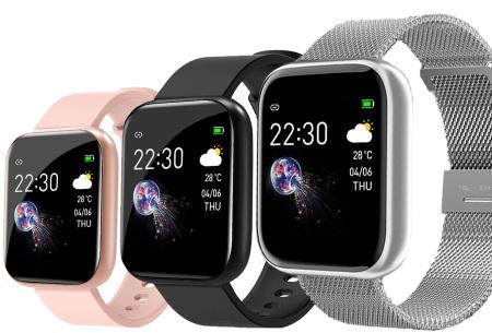 Unisex smartwatch | Stijlvol horloge met siliconen bandje