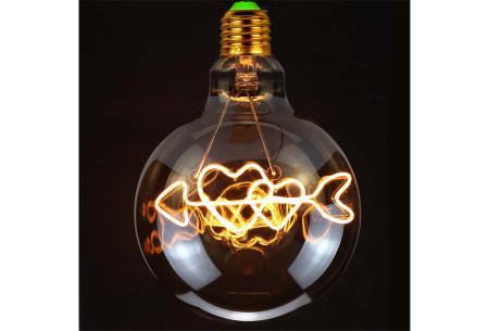Retro led-gloeilamp E27   Trendy led-bulb met tekst of figuur Pijl hartjes