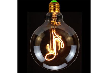 Retro led-gloeilamp E27   Trendy led-bulb met tekst of figuur Muzieknoot