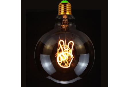 Retro led-gloeilamp E27   Trendy led-bulb met tekst of figuur Peace