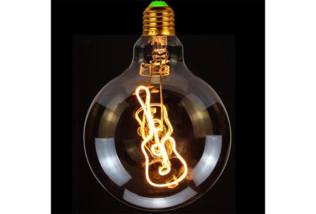 Retro led-gloeilamp E27   Trendy led-bulb met tekst of figuur Gitaar