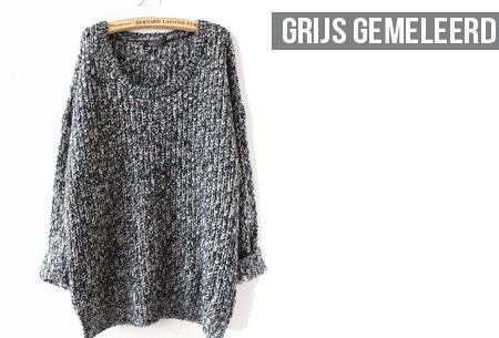 Grof Gebreide Zwarte Trui.Oversized Gebreide Trui Nu Slechts 19 95 Sale