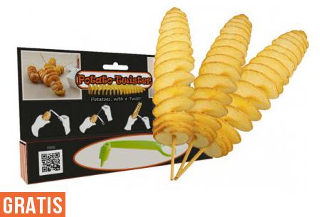 Potato Twister nu GRATIS | Voor heerlijke aardappelslingers!