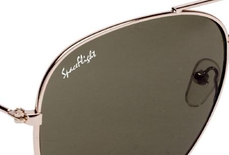 f64f6bb256929d Spaceflight Aviator zonnebril met UV400-filter nu GRATIS! Incl. doekje en  brillenkoker