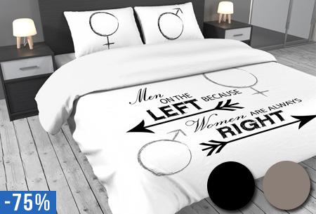 Dekbedovertrek Left & Right nu al vanaf €14,95!