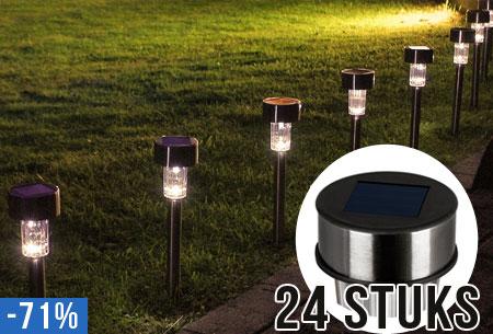 Super Solar LED buitenlampen | set van 24 stuks nu €19,95! @FE79